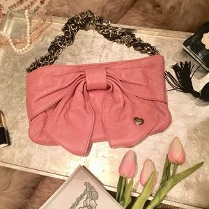 """Juicy Couture"" Pink Bow Leather Purse"